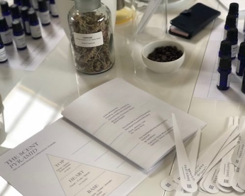 make your own fragrance blending workshop