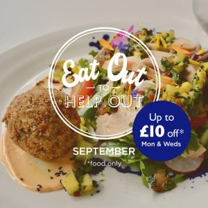 EAT OUT SEPTEMBER with text